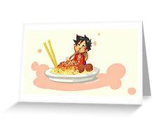 Spighetti Luffy Greeting Card