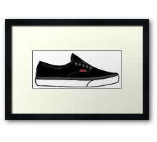 Skater Sneaker Framed Print