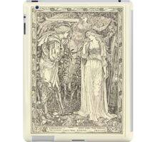 Eight illustrations to Shakespeare's Tempest by Walter Crane 1894 29 - Ferdinand - Most Sure the Goddess on Whom These Airs Attend iPad Case/Skin