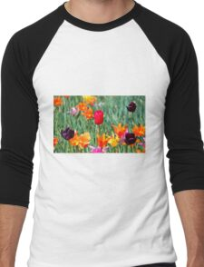 Tulips For Spring Men's Baseball ¾ T-Shirt