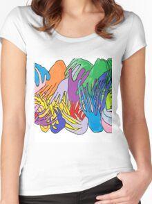 Holding Hands Tightly Women's Fitted Scoop T-Shirt