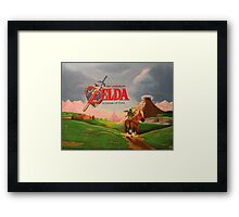 Legend of Zelda: Ocarina of Time Framed Print