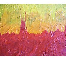 Solar Flare Red Orange & Yellow Abstract Photographic Print