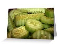 Yummy Cucumbers Greeting Card