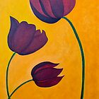 Three Black Tulips by QiQiGallery