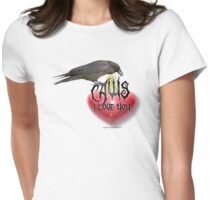 caws i l love you Womens Fitted T-Shirt