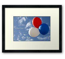 Cloud Sale Framed Print