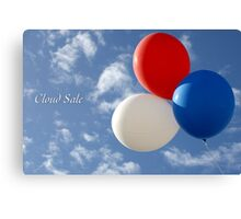 Cloud Sale Canvas Print