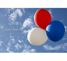 Cloud Sale Photographic Print