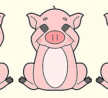 Hear No, See No, Oink No Evil by TheWhaleBaby