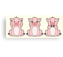 Hear No, See No, Oink No Evil Canvas Print