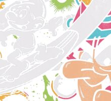 Silver Smurfer Sticker