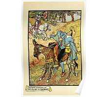Don Quixote of the Mancha retold by Judge Parry Illustrated by Walter Crane 1920 119 - The Rich Winning of the Helmet of Mambrino Poster