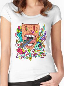 Feed Me Cup Cakes Women's Fitted Scoop T-Shirt