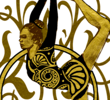 Sport series - hula gymnast  Sticker