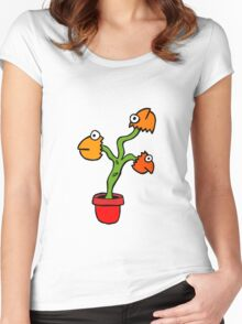 SUPER COLOUR FISH HEAD PLANT Women's Fitted Scoop T-Shirt