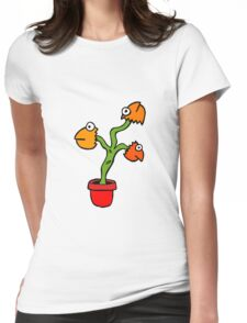 SUPER COLOUR FISH HEAD PLANT Womens Fitted T-Shirt