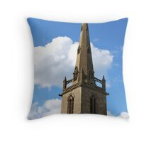 Church Spire, Easton Maudit, Northamptonshire Throw Pillow