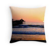 Imperial Beach Sunset Throw Pillow