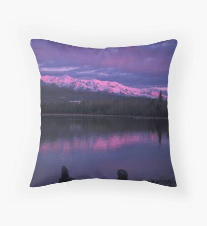 Otto Lake Alpenglow  Throw Pillow