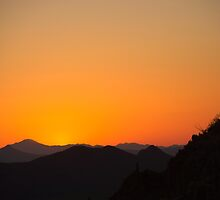 Golden Tucson Sunset by Timothy  Ruf
