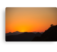 Golden Tucson Sunset Canvas Print