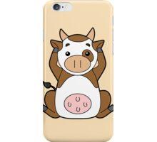 Hear No, See No, Moo No Evil iPhone Case/Skin