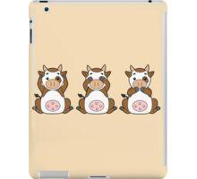 Hear No, See No, Moo No Evil iPad Case/Skin