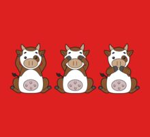 Hear No, See No, Moo No Evil Kids Clothes