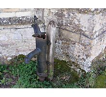 Water pump Easton Maudit church Photographic Print