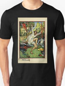 Don Quixote of the Mancha retold by Judge Parry Illustrated by Walter Crane 1920 157 - Don Quixote Doing Pennance Unisex T-Shirt