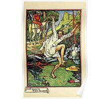 Don Quixote of the Mancha retold by Judge Parry Illustrated by Walter Crane 1920 157 - Don Quixote Doing Pennance Poster