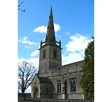 St Peter and Paul church, Easton Maudit Photographic Print