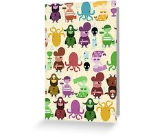 the crew (pattern) Greeting Card