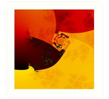 Warm colors Art Print