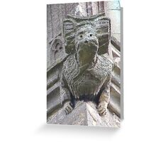 Gargoyle on Easton Maudit church Greeting Card