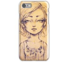 Scar on the browbone iPhone Case/Skin