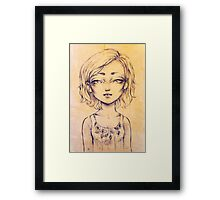 Scar on the browbone Framed Print