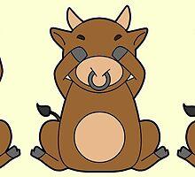Hear No, See No, Moo No Evil (Bull) by TheWhaleBaby