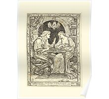 Eight illustrations to Shakespeare's Tempest by Walter Crane 1894 37 - Miranda - Sweet Lord You Play Me False Poster