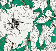 Green Peonies by marcellawylie