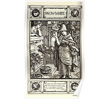 Household Storeis from the Collection of the Brothers Grimm by Lucy Crane with Illustrations by Walter Crane 1882 248 - Snow White Poster