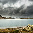 stormy lake panorama by peterwey