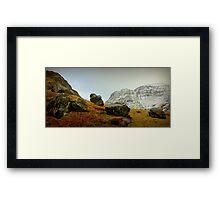 the rocks...scotland  Framed Print