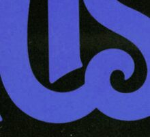 Blue Rush Logo Sticker
