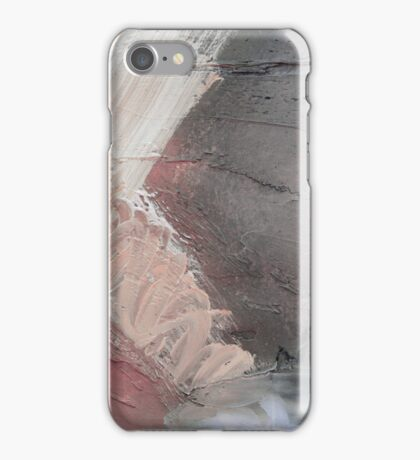 Starting Point,Pink Blue Abstract Giclee,Pink grey Giclee Print,Abstract Painting,pink white Giclee,pink grey print,pink wall art iPhone Case/Skin