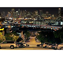 Downtown SF from Portrero Hill Photographic Print