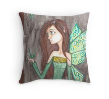 Maiden Fairy enchanted forest Throw Pillow