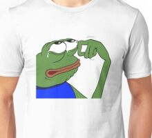 crying pepe the frog meme Unisex T-Shirt