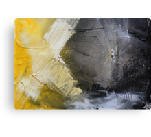 Starting Point,Gold Abstract Giclee,Gold grey Giclee Print,Abstract Painting,yellow white Giclee, grey print,gold wall art Canvas Print